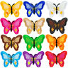DIY 2/10PC Embroidered Butterfly Applique  Iron-On/Sew-On  Patch Clothing Fabric
