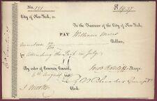 Jacob Radcliff, New York Mayor, Signed Check, 1816, COA, UACC RD 036