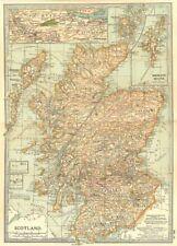 SCOTLAND.Anglo-Scottish/Independence/Jacobite wars,battlefields/dates 1903 map