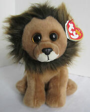Original Beanie Babies Ty Collection Cecil the Lion Brown Stuffed Animal NEW