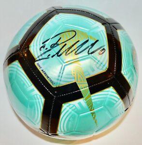 AUTO FANATICS CRISTIANO RONALDO JUVENTUS FC TEAL NIKE MERCURIAL SOCCER BALL