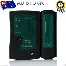 Network Lan Cable Tester Cat 5 / Cat 5e / Cat 6 / UTP cables with RJ-11 AU Stock