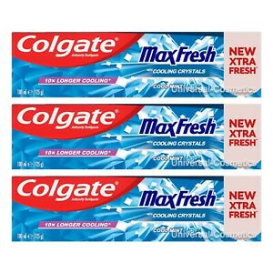 3 Pack Colgate Max Fresh Cool Mint Toothpaste 100ml