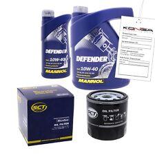 Inspektionskit MANNOL Defender 10W-40 für Audi A8 2.8 Quattro A4 A6 2.4 S4 2.7