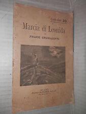 MARCIA DI LEONIDA Felice Cavallotti Aliprandi libro teatro narrativa saggistica