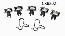 58-62 Chevrolet Corvette small block Brake Line Clip clamp bracket Set kit NOS R