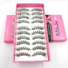 Hot 10 pairs/lot Natural Cross Clear Band False eyelashes Party  eye lashes HS-8