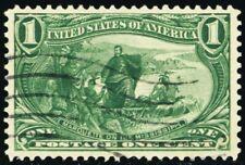 285, Used XF 1¢ Trans Mississippi A STUNNING GEM! - Stuart Katz