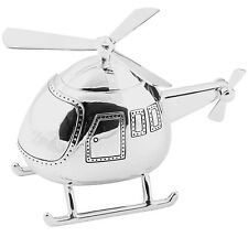 Silver Plated Christening Gifts Present For Boys And Girls Helicopter Money Box