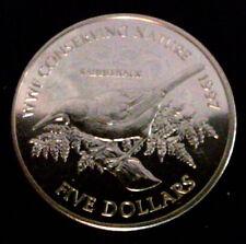 NOUVELLE ZELANDE 5 DOLLARS 1997 - WWF SADDLEBACK BIRD