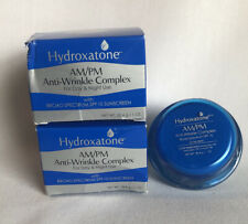 Hydroxatone AM/PM Anti-Wrinkle Complex 1 OZ Lot of 2 Expired