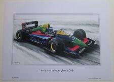 POSTER ARTWORK PRINT / DESSINS F1 LAROUSSE LC89 by CLOVIS