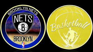 ★★★ GROSSE MEDAILLE PLAQUéE OR BASKET NBA : BROOKLYN NETS ★★★ T