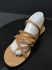 cc06cd4895cd Qupid Women s Thong Flat Sandal Tan Crinkle PU Size US 9 M   EUR 40