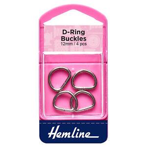Hemline D Rings Nickel - Full Range of Sizes Available!