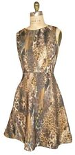 JLO size 4 Animal Print Fit Flare Party Dress NWT
