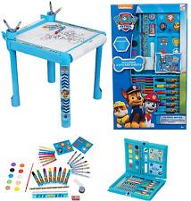 Paw Patrol Para Niños Niños Artesanía Mesa y Caja de 52 Piezas De Arte Lápices Pinturas Lápices de Colores Rcp