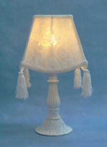 Shabby Chic Tischlampe romantisch Jugendstil Retro Vintage Nachttischleuchte