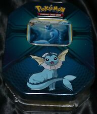 Vaporeon Tin Pokemon Power Trio Trading Cards NEW Factory Sealed 3 Booster Packs