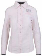 L' ARGENTINA Damen Bluse Women Shirt Größe 38 M 100% Baumwolle Rosa Gestreift