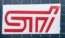 Subaru STI sticker car decal color red