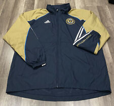 ADIDAS MLS ON FIELD PHILADELPHIA UNION STADIUM SOCCER JACKET COAT BIMBO SZ XL