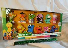 New 11-Piece Sesame Street Deluxe Figure Set Playskool Gonger Rosita Abby Elmo q