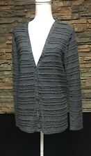 Womens The Territory Ahead Poly Rayon Sweater Ribbed Lightweight Casual Gray M
