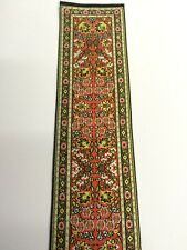 Turkish Stair Carpet Red Design, Dolls House Miniature 1.12 Scale Carpets