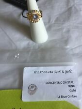 Ted Baker Concentric crystal ring gold light blue ombre New in original/packagin