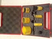 Starrett Kv1092 - 6-Pc. Bi-Metal Hole Saw Kit w/ Arbors and Case
