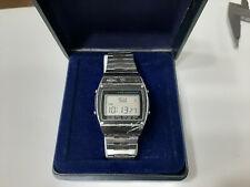 Seiko A359 4010 orologio vintage uomo quartz (batteria) LCD con box