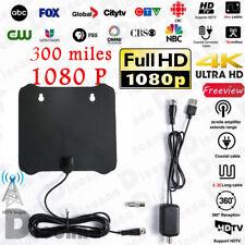 HD 1080P 300 Miles Range Indoor Digital TV Antenna Amplified HDTV Skywire Antena