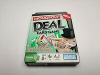Monopoly Deal Card Game 2008 Parker Brothers Ages 8+ open box AC