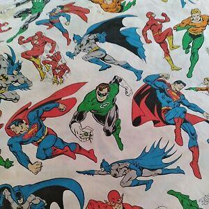 POTTERY BARN KIDS TWIN DC COMICS JUSTICE LEAGUE duvet cover, superman, batman..