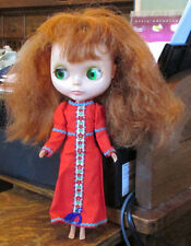 OLD VINTAGE KENNER RED HAIR BLYTHE DOLL WORKS ! W ROARING RED PEASANT DRESS