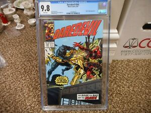 Daredevil 245 cgc 9.8 Marvel 1987 Black Panther cover NM MINT WHITE pgs movie TV