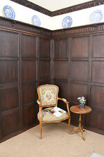 Jacobean 17th century rectangular oak wall panelling replica, approx 4.5m x 2m