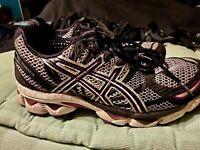 Asics Gel Nimbus 12 Women's Grey Purple Running Casual Shoes Ladies Size 7.5