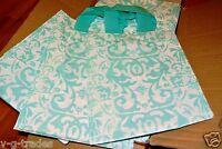 8x5x10  LOT 20 Frosted AQUA BLUE Plastic Bags Damask Merchandise Gift BAG 8 5 10
