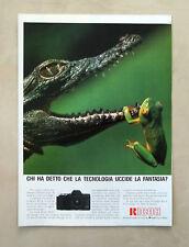 D373 - Advertising Pubblicità- 1988 - RICOH XR-X FOTOCAMERA 35 mm