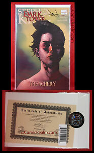 DF Dark Tower Treachery #1 Signed By Jae Lee 32/150 Stephen King COA NM/M+!
