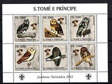 S. TOME' E PRINCIPE 2003 6 STAMPS SUBJECT SCOUT AND OWL GUFI YVERT 1428-33 MNH**
