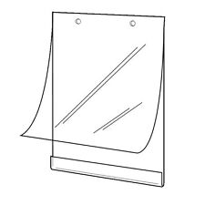 SET OF 6  HANGING POSTER HOLDERS SLEEVES A2 A3 A4 WITH MOUNT FIXING ACCESSORIES