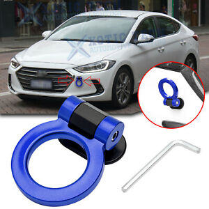 For Hyundai Elantra JDM Blue Racing Track Style Tow Hook Ring Look Bumber Decor