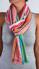 Tolani 15114 Multi Pink/Turquoise Cotton/Linen Scarf