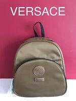 100% Genuine Versace Gold Luxury Backpack Rucksack Style Bag Pack in Dust Bag