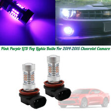 2pcs H11/H8 Pink Purple LED Fog Lights DRL Bulbs For 2014-2015 Chevrolet Camaro