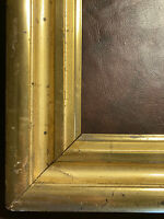 "Large Antique Lemon Gold Gilt Frame Distressed Haunted 23x30"""