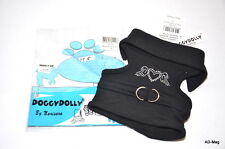 Harnais / Vêtement pour Chien - DOGGYDOLLY Noir Strass - Taille S (23/25) - NEUF